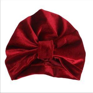 Other - Brand New Velvet Red Baby Girl Turban 0-24 Months